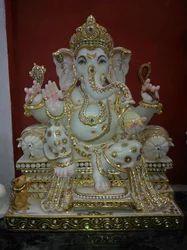Marble Ganpati Bappa Moorti