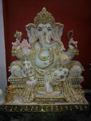 marble ganpati bappa moorti ganpati bappa statues shivangani