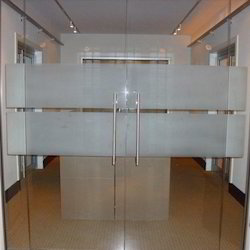 Saint Gobain Swing Office Glass Doors, Thickness: 12mm