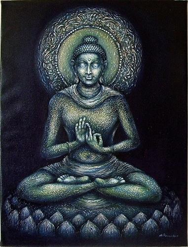 gautam buddha in meditation 2 paintings at rs 16000 piece