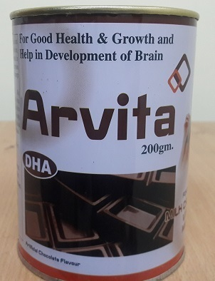 Arvita Chocolate Flavour Powder, Packaging Type: Tin Container