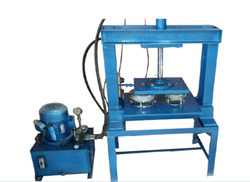 Semi Automatic Paper Dish And Thali Making Machine