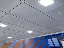 Metal False Ceiling - Lay in Perforated GI.