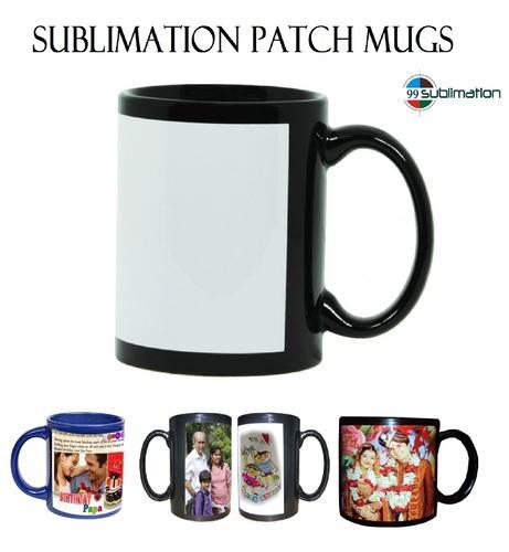 Photo Sublimation Printing 11 Oz Color Patch Mug