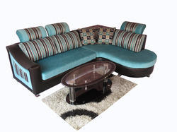 Wooden L Cushion Sofa Set