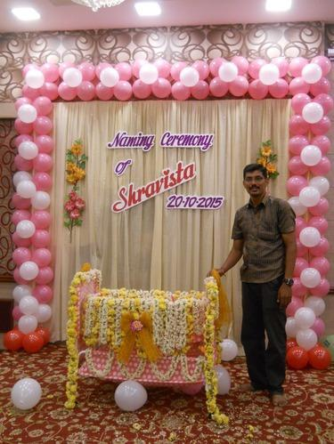 Decoration ideas for cradle ceremony for Balloon decoration in pune