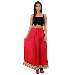 Indian Rayon Skirt