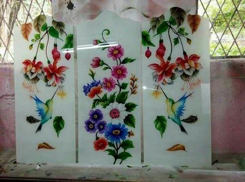 Color Glass Designer Mirror, Window Color Glass Design