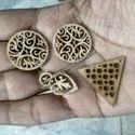 Wooden Button Laser Cut Art