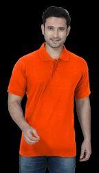 Orange Collar Plain T Shirts