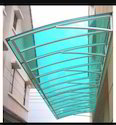 Green And Blue Polycarbonate Window Shed