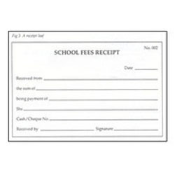 receipt for services