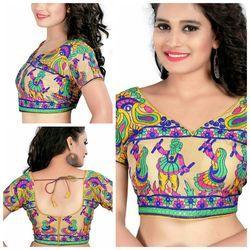 Georgette Plain Printed Blouses, Size: 34, Yes