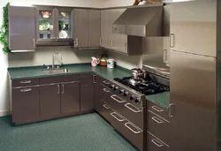Stainless Steel Kitchen Cabinet - MK Interials, Chennai | ID ...