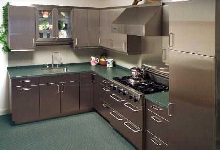 Stainless Steel Kitchen Cabinet : stainless-steel-kitchen-cabinet-design - designwebi.com