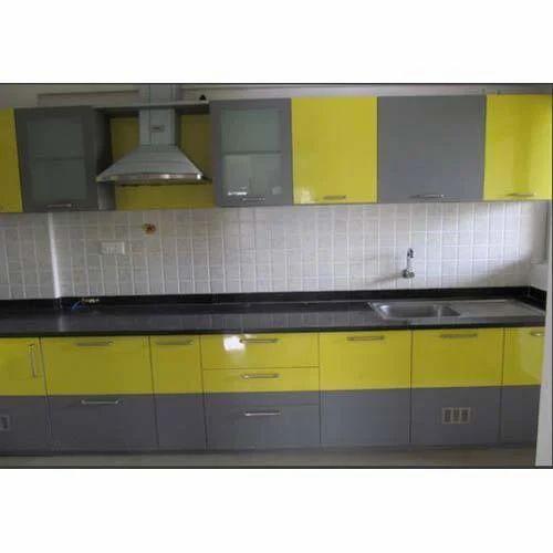 Modular Kitchen High Gloss Laminate