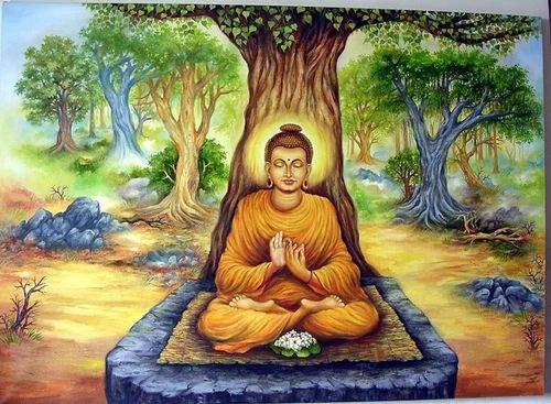 Gautam Buddha In Meditation 3 Paintings