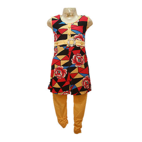 Girls Multicolor Kurti And Leggings Set