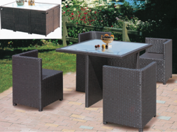 One Piece Style Outdoor Wicker Coffee Set