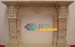 Fireplace In Yellow Sand Stone