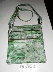 Snake Print Leather Bag