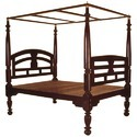Brown Antique 4 Poster Bed