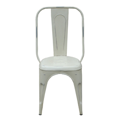 Powder Coated Ms Iron White Tolix Chair For Restaurant