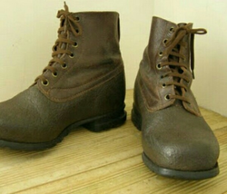 High Ankle Army Shoes