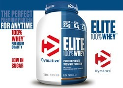 Muscle Building Chocolate Dymatize Whey Protein, Packaging Type: Plastic Container