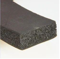 Black Sponge Rubber Strip