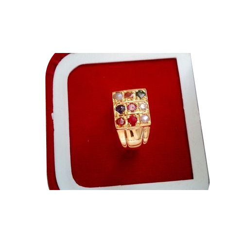 Designer Navaratna Ring Gents Navaratna Ring Manufacturer from Surat