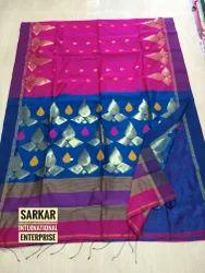 Silk & Cotton Designer Handloom Saree, Length: 6.3 m