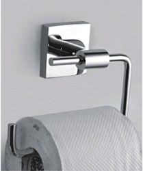 Silver Metal Alloy Toilet Paper Holder