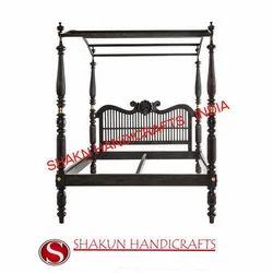 Shakun Handicrafts Modern Wooden Bed Frame