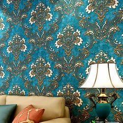 Flower Pot PVC Designer Wallpaper, For Home