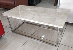 Stainless Steel Italian Marble Center Table