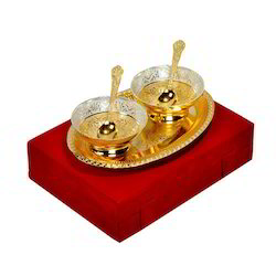 Gold Plated Bowl Set - 5pcs