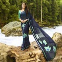 Georgette Designer Party Wear Saree With Blouse Piece