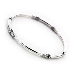 grande bangle silver sterling bangles jewellery jeweller zirconia the row three cubic collections wave tagged atkinsons