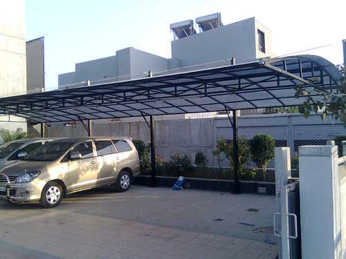 Car Park Shed Car Parking Sheds Chamunda Fiber Glass Narol