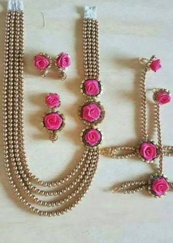 Golden Pears Costemize Artificial Flower Jewellery Rs 1000 Set