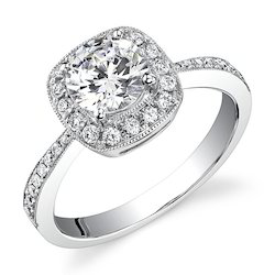 Sparkling Real Diamond Ring