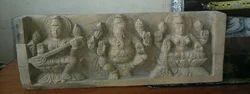 Ganesh Lakshmi Saraswati Panel