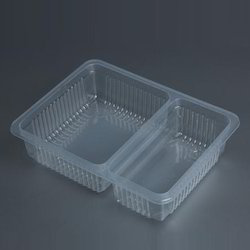 2 Compartment Food Packaging Tray