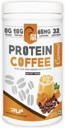 Brown Protein Coffee Caramel, Boost Energy, Muscle Building, Meal Replacement, Lean Muscle Mass
