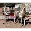 Indian Antique Wooden Painted Horse Cart