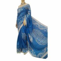 Color Batik Pure Silk Saree