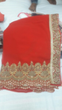 Red Desiner Sarees
