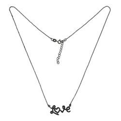 SHNL0010 Designer Love Charm Silver Necklace