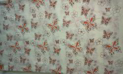 Butterfly Design Block Printed Fabric